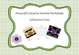 Minecraft:  Colour by Number - Subtraction Facts