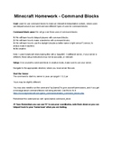 Minecraft - Command Block Assignment