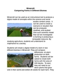 Minecraft: Comparing Farms in Different Biomes Common Core activities