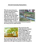 Minecraft:  Constructing a Floating Garden