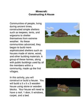 Minecraft:  Constructing a House
