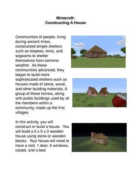 Minecraft:  Constructing a House