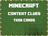 Minecraft Context Clues Task Cards - Answer Key & Game Boa