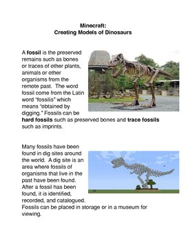 Minecraft: Creating A Dinosaur Model