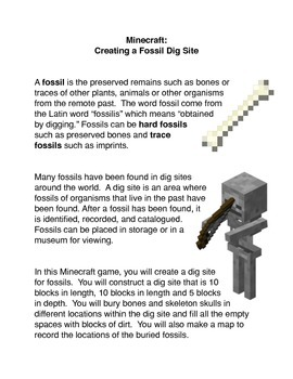Minecraft: Creating A Fossil Dig Site