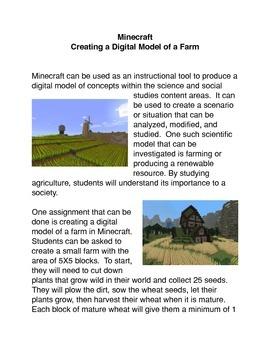 Minecraft: Creating a Digital Model of a Farm Common Core