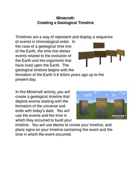 Minecraft: Creating a Geological Timeline