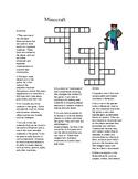 Minecraft Crossword Puzzle