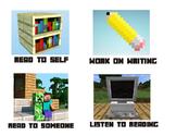 Minecraft Daily 5 Pocket Chart Cards