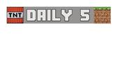 Minecraft Daily 5 Pocket Chart Header
