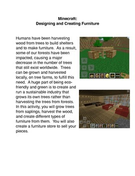 Minecraft:  Designing and Creating Furniture