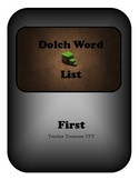 Minecraft Dolch Word Cards: First