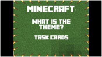 #HappyNewYear Minecraft Theme Task Cards -Answer Key & Mor