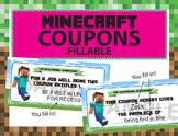 Minecraft Reward Coupons: Blank Editable/fillable