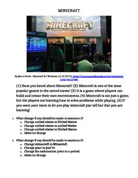 Minecraft Editing Passage