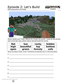 Minecraft English Ep 2 - Constructing