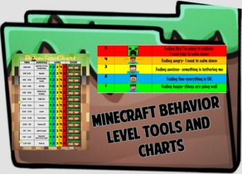 Minecraft Five Level Behavior Chart and Tools