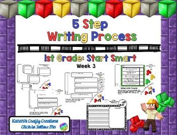 Minecraft: Five Step Writing Process: First Grade SS W3