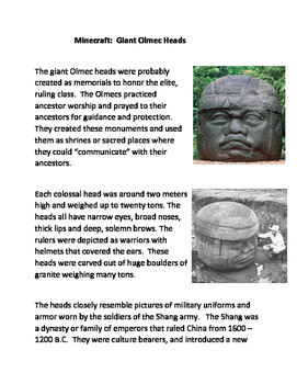 Minecraft: Giant Olmec Heads