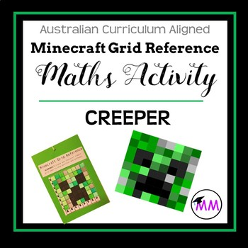 Minecraft Grid Map Referencing 'Creeper' Freebie