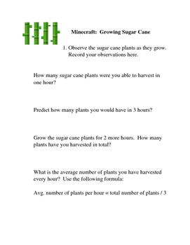 Minecraft: Growing Sugar Cane