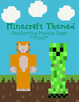 Minecraft Handwriting Packet - Print
