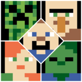 Minecraft Inspired - 120 Chart Mystery Pictures Bundle