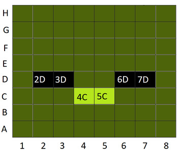 Minecraft Inspired Coordinate Image
