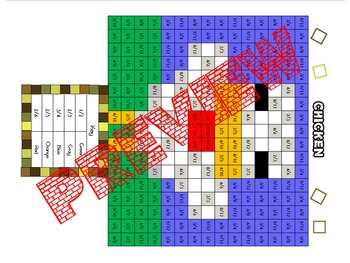 """Minecraft Inspired """"Equivalent Fractions"""" Think and Color Puzzle Pack"""