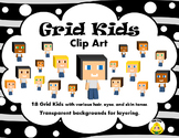 Grid-Kids Clip Art Images