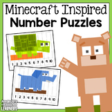 Minecraft Inspired Number Puzzles 1-10