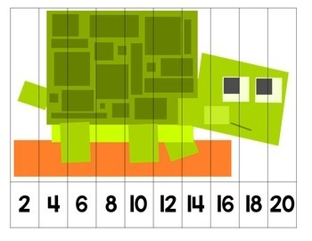 Skipping Numbers Number Puzzles - Minecraft Inspired