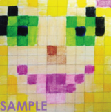 Minecraft Inspired Portrait Grid Art Project