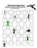 Minecraft Integer Maze