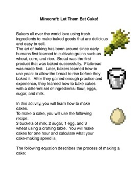 Minecraft: Let Them Eat Cake!