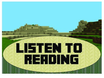 Minecraft Literacy Signs