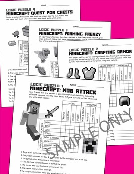 11 Minecraft Logic Puzzles