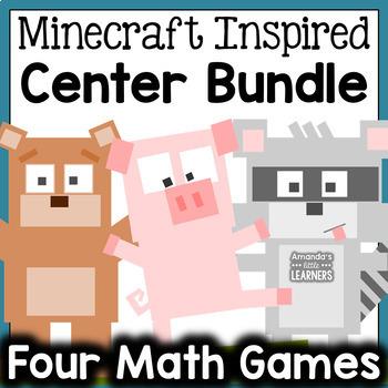 Minecraft Inspired Math Center Bundle