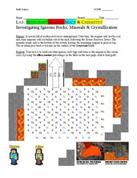 Minecraft Magma Math and Chemistry Investigation