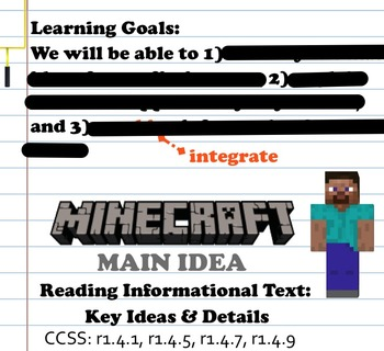 Minecraft Main Idea