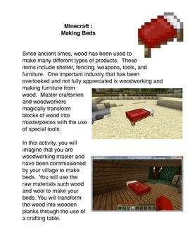 Minecraft:  Making Beds