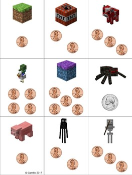 Minecraft Making Structuring 5 Math Station Cards