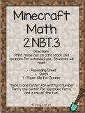 Minecraft Math 2.NBT.3