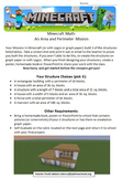 Minecraft Math: An Area and Perimeter Mission 4.MD.3, 3.MD