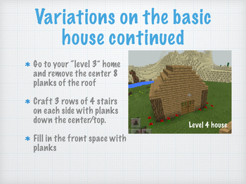 Minecraft Math- Home builder edition