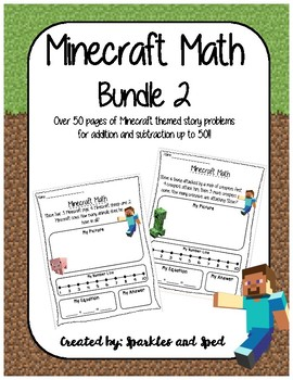 Minecraft Math Bundle 2 - Addition and Subtraction up to 50