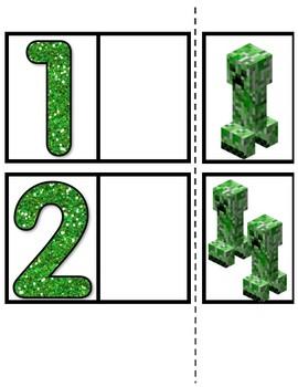 Minecraft Math Match 1-20
