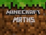 Minecraft Maths - Area, Perimeter, Volume, Decimals and Percentages.
