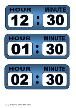 Digital Clock Printables