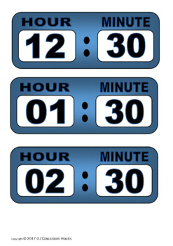 Digital Clock Printables